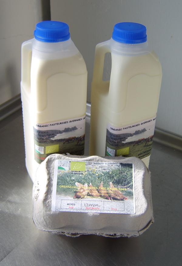 Cornwall milk and eggs